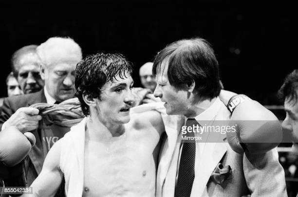 Barry McGuigan vs Esteban Eguia at the Royal Albert Hall, Kensington, London, McGuigan defended his EBU Featherweight title, Barry McGuigan with...