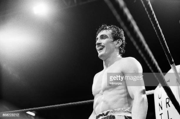 Barry McGuigan's comeback fight against Nicky Perez Alexandra Pavillion London This was McGuigan's first fight after losing his WBA World Title to...