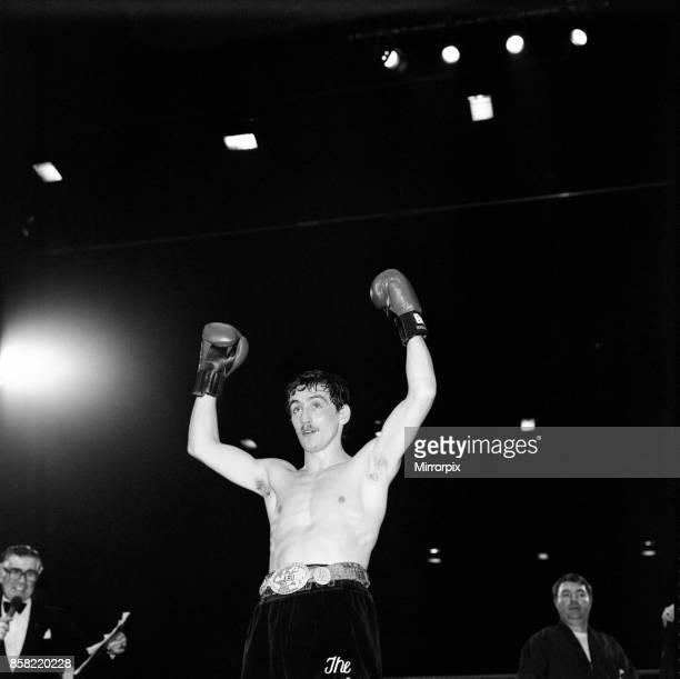 Barry McGuigan's defended his European Featherweight title against Farid Gallouze at Wembley Arena London McGuigan won by TKO in round two McGuigan...