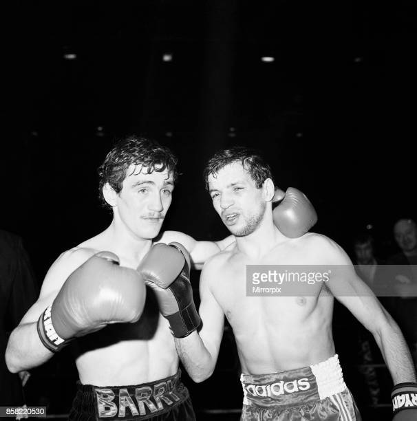 Barry McGuigan's defended his European Featherweight title against Farid Gallouze at Wembley Arena London McGuigan won by TKO in round two Fighters...