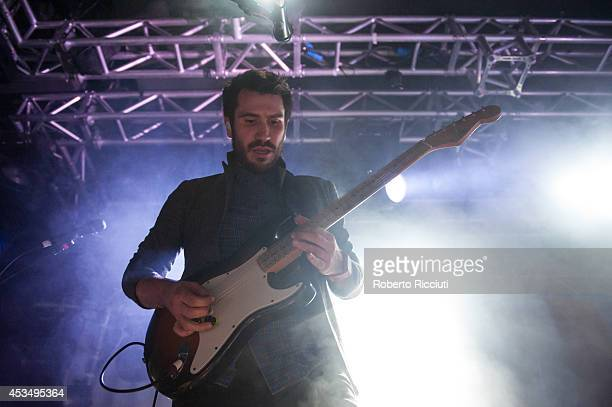 Barry McKenna of Twin Atlantic performs on stage at The Liquid Room on August 11, 2014 in Edinburgh, United Kingdom.