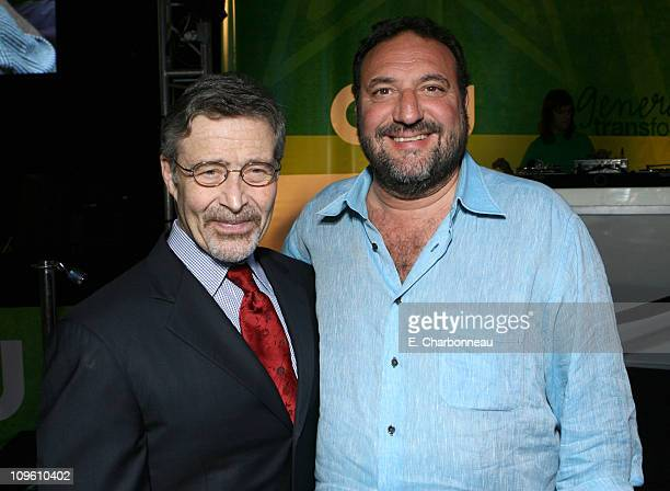 Barry Meyer and Joel Silver during The CW Launch Party Inside at WB Main Lot in Burbank California United States