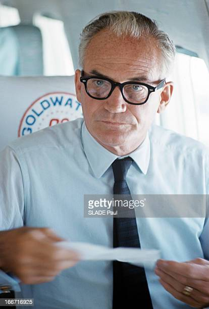 Barry Morris Goldwater In Electoral Campaign During The Presidential Election In The United States Aux EtatsUnis en 1964 lors de la campagne...