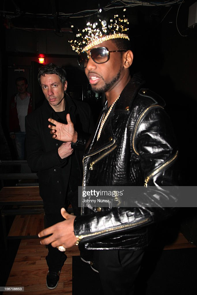 Barry Mullineaux and Fabolous celebrate Fabolous' birthday at WIP on November 18, 2012 in New York City.