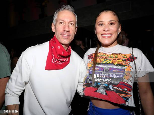 Barry Mullineaux and Jill Rockk attend Barry Mullineaux's birthday party hosted by 50 Cent on January 14, 2021 in Miami, Florida.