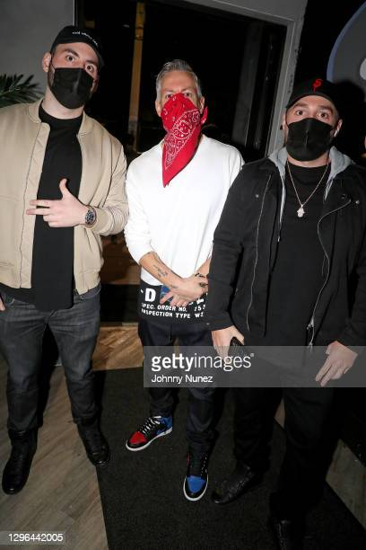 """Barry Mullineaux and Josh """"DOT"""" Stone attend Barry Mullineaux's birthday party hosted by 50 Cent on January 14, 2021 in Miami, Florida."""
