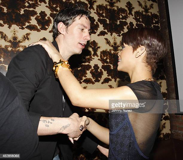 Barry Mullineaux and Rihanna attend the Good Girl Gone Bad screening party on June 17 2008 at Guesthouse in New York