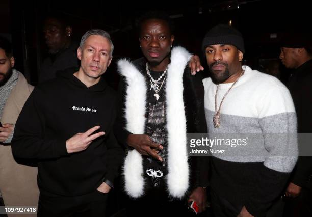 Barry Mullineaux Michael Blackson and DJ Clue attend Church On Sundays Hosted By Nicki Minaj And Phil The Mayor And DJ Clues Birthday Party at The...