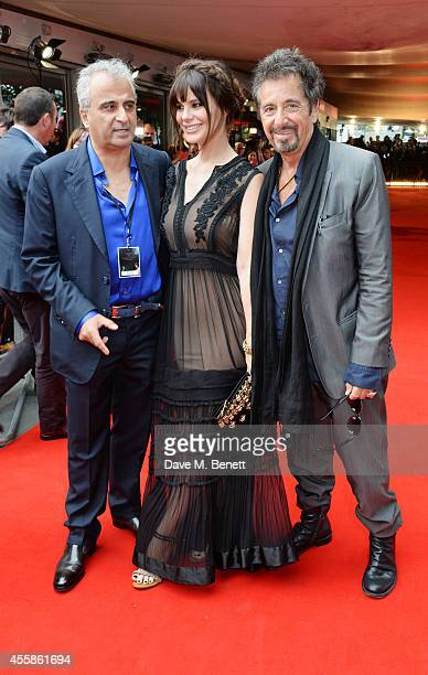 Barry Navidi Lucila Sola and Al Pacino attend a VIP screening of Salome and Wilde Salome at the BFI Southbank on September 21 2014 in London England