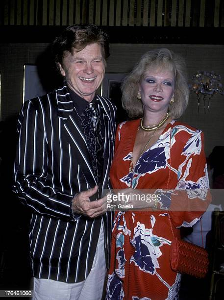 Barry Nelson and Monique van Vooren attend Barry Nelson Party on July 29 1986 at Capriccio Restaurant in New York City