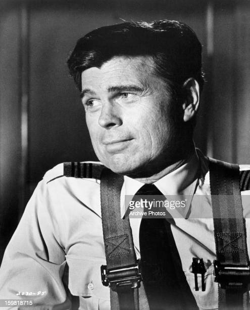 Barry Nelson looking to his right in a scene from the film 'Airport' 1970