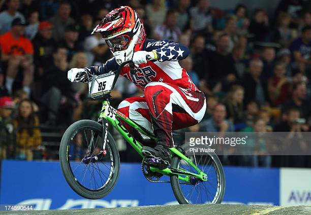 Barry Nobles of the USA in action during day five of the UCI BMX World Championships at Vector Arena on July 28 2013 in Auckland New Zealand