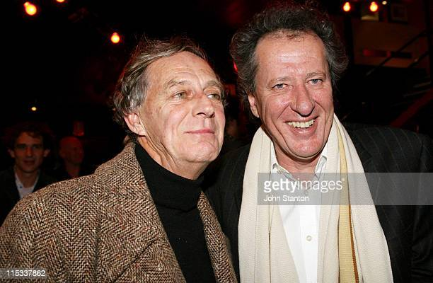 Barry Otto and Geoffrey Rush during Opening Night of Exit The King Starring Geoffrey Rush in Sydney on June 132007 at Belvoir St Theatre in Sydney...