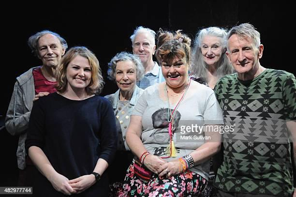 Barry Otto director AnneLouise Sarks Anna Volska Peter Carroll Genevieve Lemon Maggie Dence and John Gaden the cast of Belvoir Street Theatre's play...