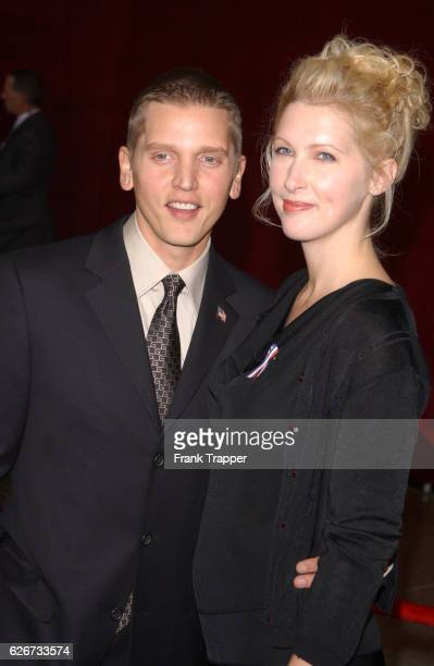Barry Pepper and wife Cindy arrive at the 53rd annual Primetime Emmy Awards at the Shubert Theater
