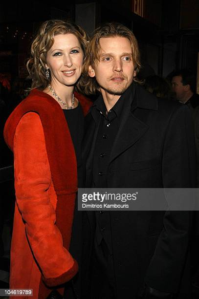 """Barry Pepper and wife Cindy during """"25th Hour"""" New York City Premiere - Inside Arrivals at Ziegfeld Theater in New York City, New York, United States."""