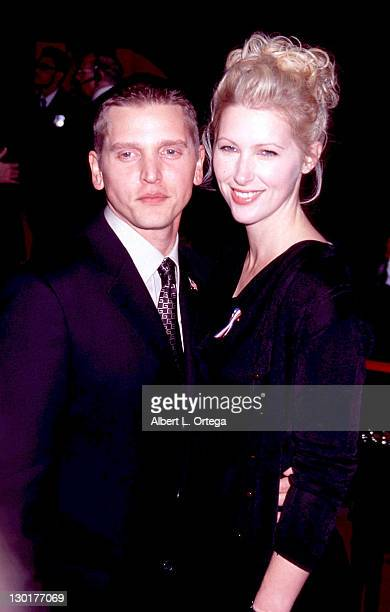 Barry Pepper and wife Cindy during 53rd Annual Primetime Emmy Awards Arrivals at Shubert Theater in Century City California United States