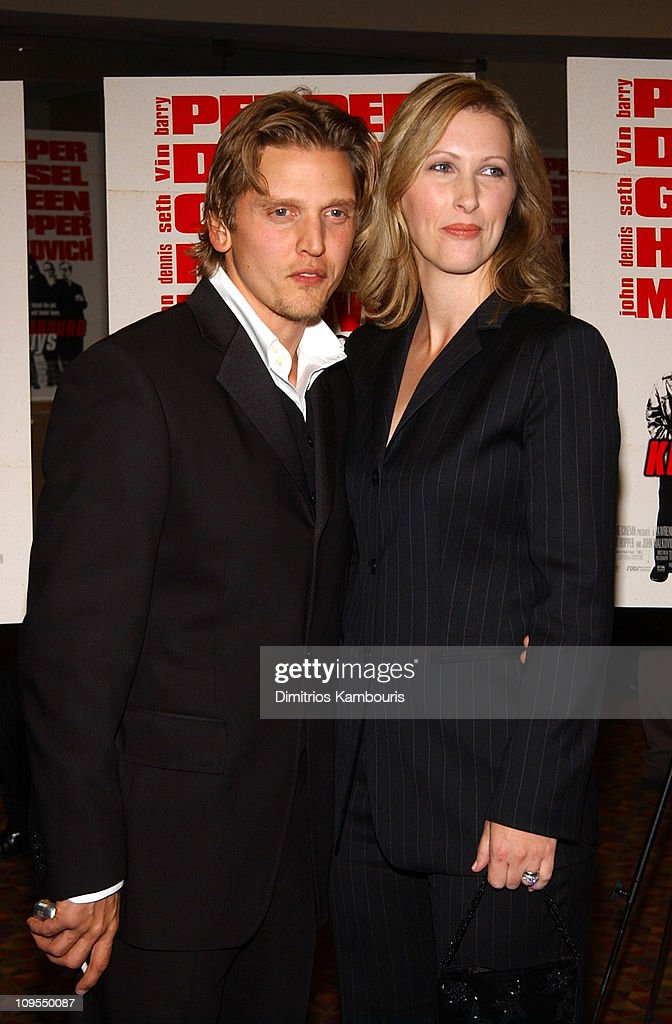 Barry Pepper and wife Cindy during 'Knockaround Guys' Premiere - New York at AMC Empire 25 Theatre in New York City, New York, United States.