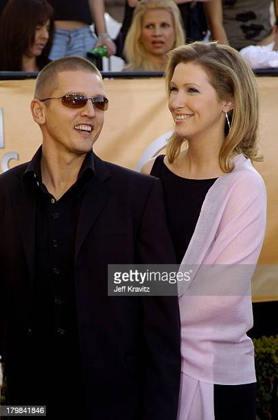 Barry Pepper and wife Cindy Pepper during 2005 Screen Actors Guild Awards Arrivals at The Shrine in Los Angeles California United States