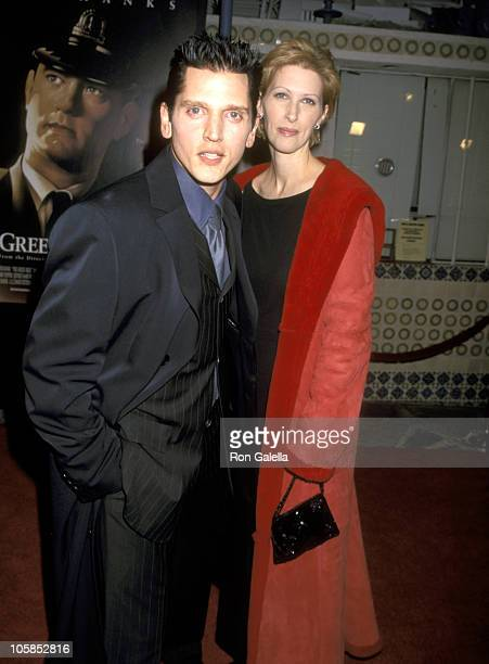 Barry Pepper and Wife Cindy Pepper during The Green Mile Benefit Premiere Westwood California at Mann Village Theatre in Westwood California United...