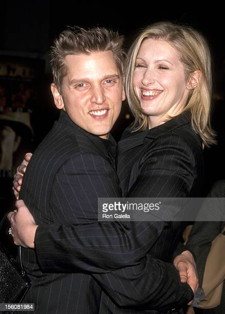 Barry Pepper and Wife Cindy Pepper during 'We Were Soldiers' Premiere at Mann Village Theatre in Westwood California United States