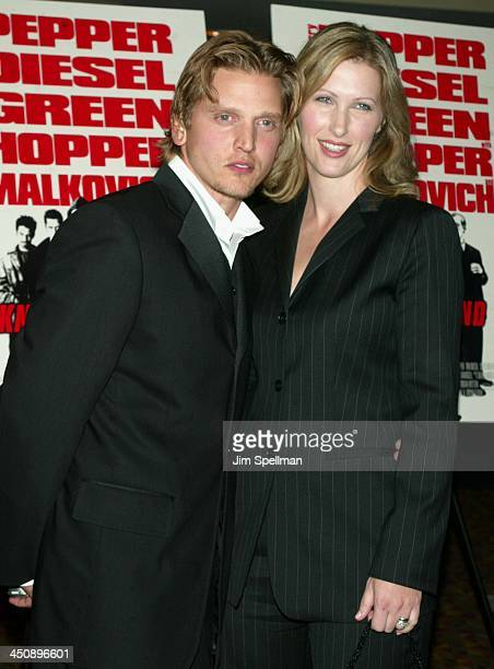 Barry Pepper & wife Cindy during Knockaround Guys Premiere - New York at AMC Empire 25 Theatre in New York City, New York, United States.