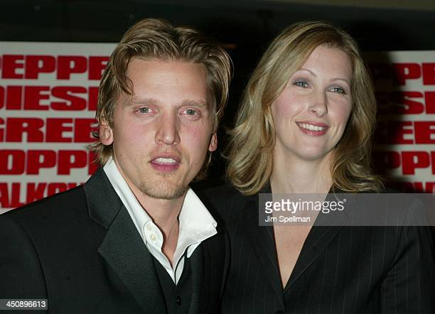 Barry Pepper wife Cindy during Knockaround Guys Premiere New York at AMC Empire 25 Theatre in New York City New York United States