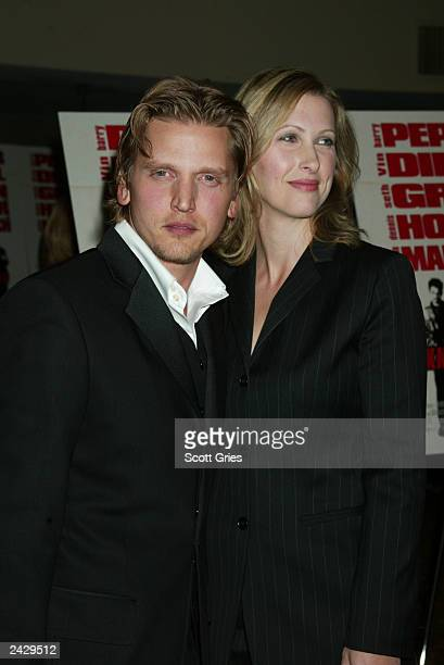 Barry Pepper with his wife Cindy arrives at the world premiere of Knockaround Guys at the AMC Empire 25 in New York City 9/25/02 Photo by Scott...