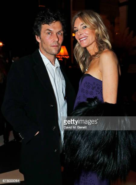 Barry Reigate and Kim Hersov attend a preopening dinner hosted by Kate Bryan at Zobler's Delicatessen at The Ned London on April 25 2017 in London...