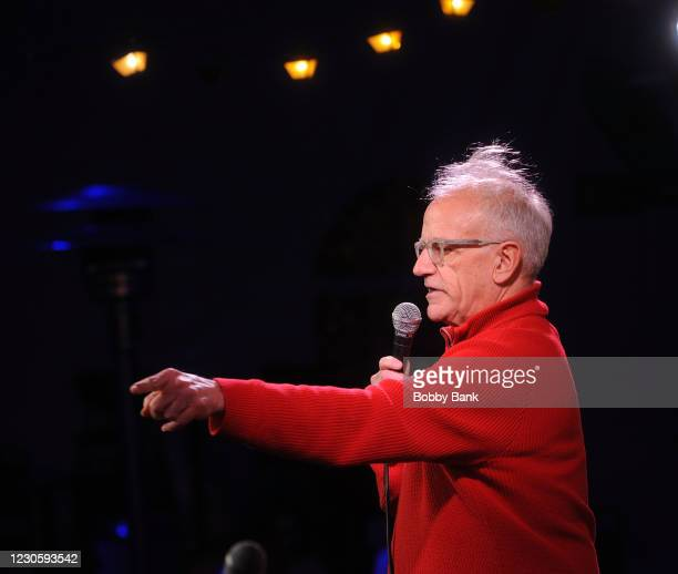Barry Ribs performs at The Stress Factory Comedy Club on January 14, 2021 in New Brunswick, New Jersey.