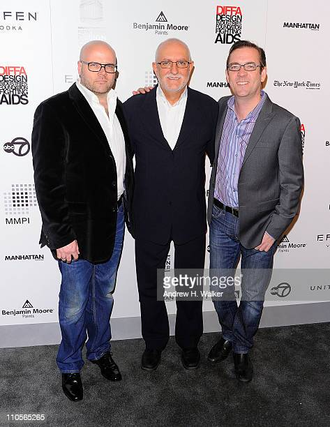 Barry Rice Executive Director of DIFFA David Sheppard and television personality Ted Allen attend the 2011 DIFFA DINING BY DESIGN New York Gala...