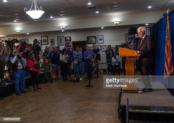 Barry Richards attorney for Florida gubernatorial candidate Andrew Gillum answers questions during a press conference on November 10 2018 in...