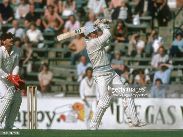 Barry Richards batting during the Courage International Batsman of the Year single wicket competition at The Oval London 17th September 1979 Richards...