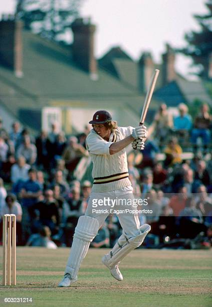 Barry Richards batting for Hampshire during his 96 in the tour match between Hampshire and Australia at the County Ground Southampton 28th June 1975