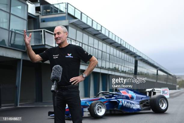 Barry Rogers of Garry Rogers Motorsport speaks to the media during the announcement that the S5000 support category is returning to the Formula 1...