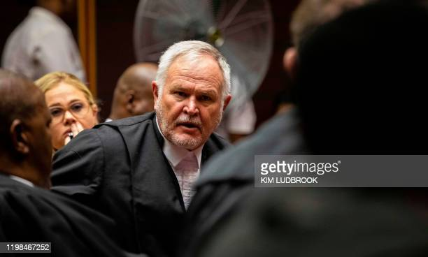 Barry Roux, new senior council to South Africa's former president Jacob Zuma appears at the Pietermaritzburg High Court on behalf of former President...