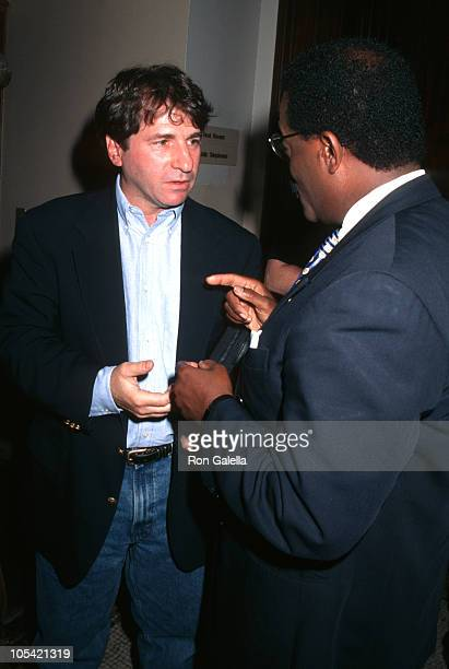 Barry Scheck and Johnnie Cochran during 5th Anniversary of Court TV at Bar Association Building in New York City New York United States
