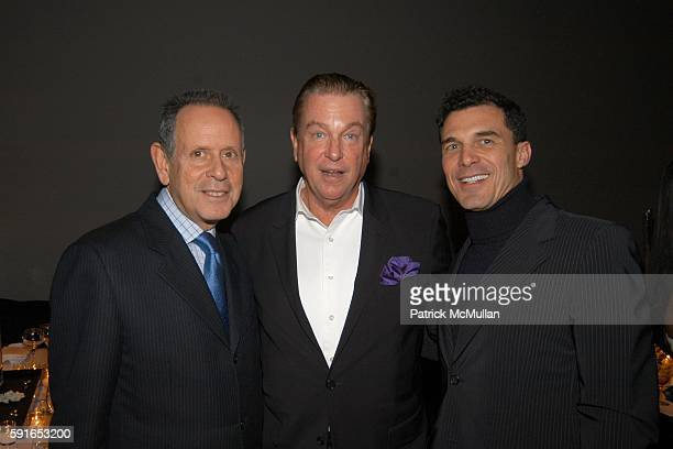 Barry Schwartz, Paul Wilmot and Andre Balazs attend 10th Annual Intimate Holiday Dinner with Friends to benefit AIDS Community Research Initiative of...