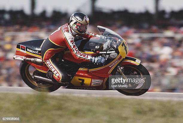 Barry Sheene of Great Britain rides the Yamaha YZR 500 during the German motorcycle Grand Prix on 6 May 1979 at the Hockenheimring circuit in...