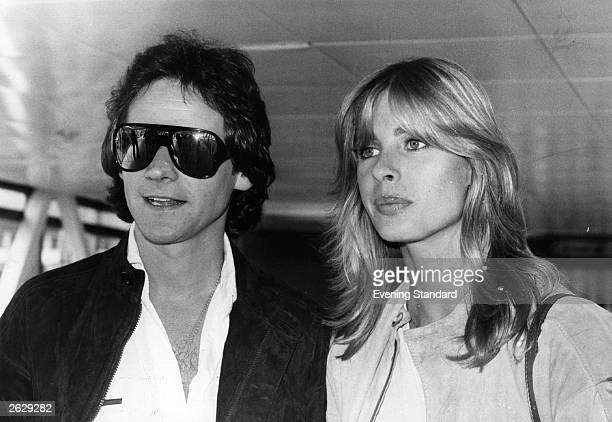 Barry Sheene the British motorcyclist is pictured with girlfriend Stephanie McLean