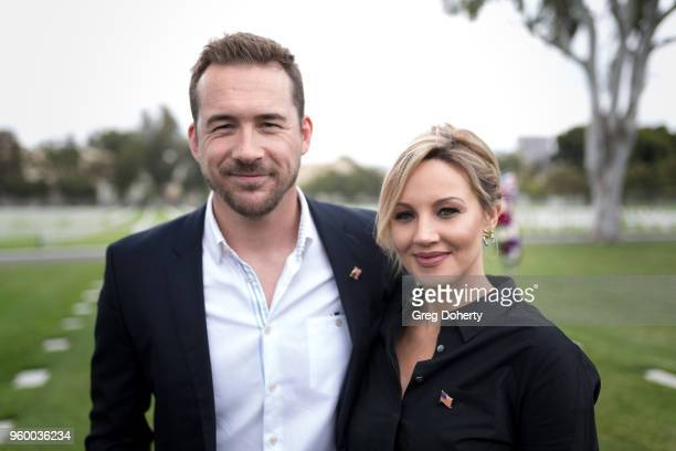 Barry Sloane and Brianne Davis and the Cast Of History's Six Join 12YearOld Preston Sharp For Flags And Flowers Event Honoring America's Veterans at...