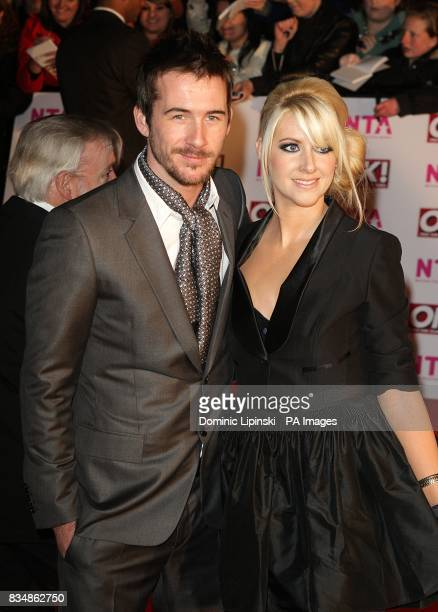 Barry Sloane and Katy O'Grady arrive for the 2008 National Television Awards at the Royal Albert Hall Kensington Gore SW7
