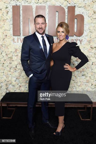 Barry Sloane and Katy O'Grady attend the IMDb LIVE Viewing Party on March 4 2018 in Los Angeles California