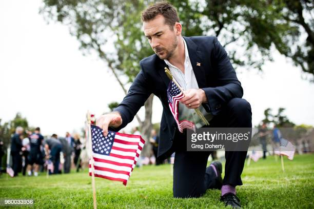 Barry Sloane and the Cast Of History's Six Join 12YearOld Preston Sharp For Flags And Flowers Event Honoring America's Veterans at Los Angeles...