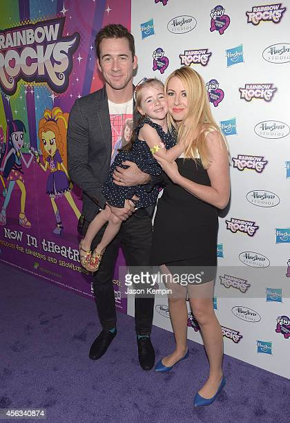 Barry Sloane Gracie Sloane and Katy O'Grady attend the premiere of My Little Pony Equestria Girls Rainbow Rocks at TCL Chinese Theatre on September...