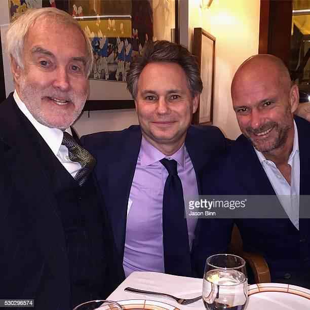 Barry Slotnick Jason Binn and Giuseppe Cipriani circa March 2016 in New York City