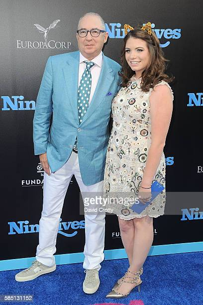Barry Sonnenfeld and Chloe Sonnenfeld attend the Nine Lives World Premiere at TCL Chinese Theatre on August 1 2016 in Hollywood California