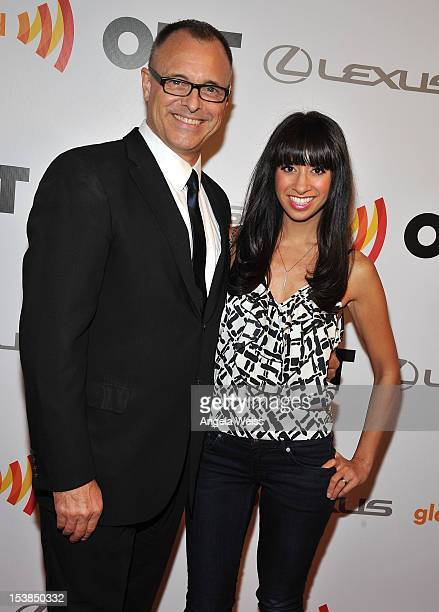 Barry W. Levy and Helenna Santos-Levy attend OUT's 20th Anniversary celebration presented by Lexus at Station Hollywood at W Hollywood Hotel on...
