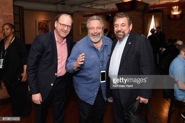 Barry Watkins Drew Nieporent and James Dolan attend the jury welcome lunch at Tribeca Grill Loft on April 20 2017 in New York City