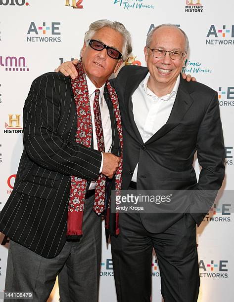 Barry Weiss and President and General Manager of A&E Network and BIO Channel Bob DeBitetto attend the A+E Networks 2012 Upfront at Lincoln Center on...